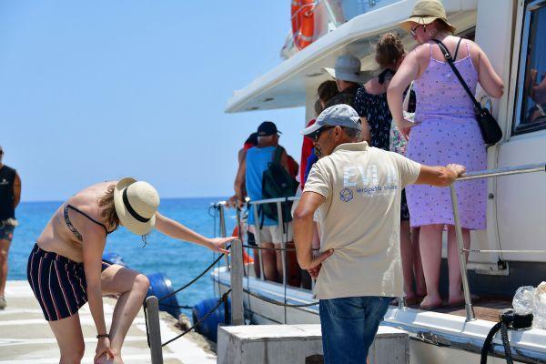 Vip yacht to Chrissi Island